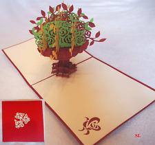 """Carte d'anniversaire fête des mères 3D """"Bouquet de Fleur Multicolore"""" Kirigami"""