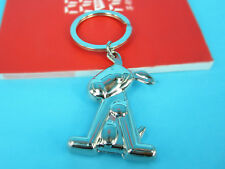 HJ B Dog Keyring Creative Cute Pets Keychain Polished Chrome Classic 3D Gift