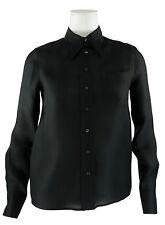 MIU MIU Seidenbluse schwarz Kastenform Größe M 36 / 38 ital. 42 Bluse Seide silk