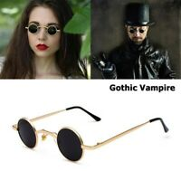 New Celebrity Gothic Vampire Style SteamPunk Rock Sunglasses Unisex Small Round