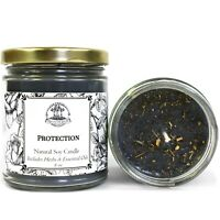 Protection 8 oz Soy Candle Spells Evil Attacks Hoodoo Voodoo Wicca Pagan Conjure