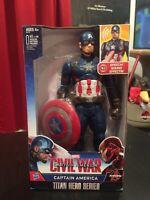 "Hasbro 12"" Talking Captain America Civil War Action Figure Titan Hero Series"