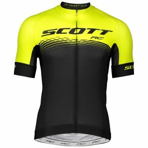 "TEAM SCOTT RC 2019 BLACK/YELLOW Cycling Pro Jersey ""NEW"""