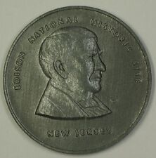 Thomas Edison National Historical Site Pewter Medal with Informational Tags