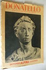 Donatello Encyclopedie Alpina Illustree 1943 French Language Art Sculpture Folio