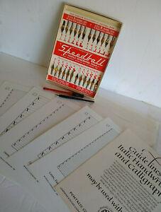 Hunts Speedball Card Calligraphy (24 Pens) Esterbrook #32 Vintage & Guidelines