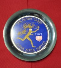 Antique Rare Piece Of History 1976  Olympic SILVER-PLATED Plate,  Pin