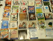 NINTENDO DS INSTRUCTIONS ONLY, INSTRUCTIONS ONLY DS GAME LEAFLETS