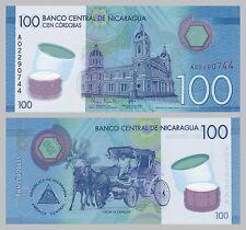 Nicaragua 100 Cordobas 2014 Polymer p213 unz.