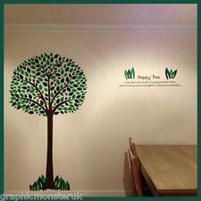 Happy Tree Adesivi Murali bellissima lucentezza mozzafiato Wall Art decalcomania Sticker UK PRODOTTO
