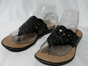 Kim Rogers Slip On Thong Sandals 6.5M 2 Pairs Brown & Black Kater Faux Leather