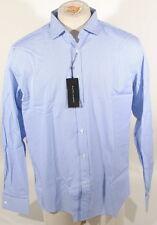 Ralph Lauren Black Label Lt Blue/White Stripe Dress Shirt Italy French Cuff B2C
