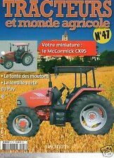 FASCICULE 47 FARM TRACTOR TRACTEUR MONDE AGRICOLE MC CORMICK CX95 2004