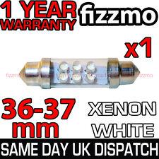 36mm 6 LED 239 272 C5W 12v XENO BIANCO TARGA INTERNO LAMPADINA A SILURO