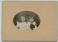 Vintage Photo - Little Girl & Little Boy with Bowl Hair Cut
