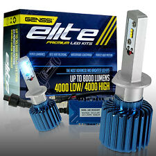 8000LM ELITE LED headlight Kit H1 6000K bulbs White Xenon Color (Pack of 2)