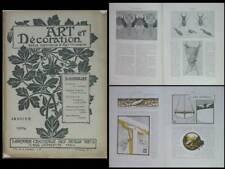 ART ET DECORATION 01 1904 - MUCHA, LALIQUE , PILLARD VERNEUIL, GRASSET, INSECTE