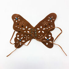Brown Butterfly Faux Suede Sew On Patch