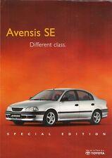 Toyota Avensis SE Limited Edition 1999 UK Market Leaflet Sales Brochure 1.6 1.8