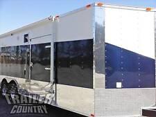 New 2022 85 X 24 V Nose Enclosed Cargo Car Hauler Trailer Loaded Race Package 3