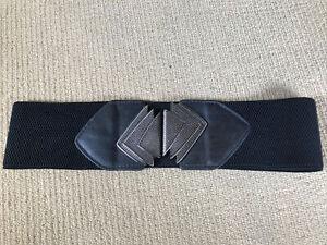 Vintage Women's Elasticised Belt. Clasp Closure.