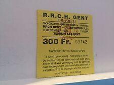 Football Ticket - UEFA - Coca cola cup - RRCH Gent - Royal Antwerp FC
