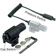 Mini Pistol / Handgun Red Dot Laser Sight With Pressure Switches Fits 20mm Rails