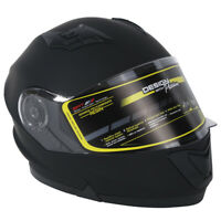 Adult Matte Black DOT Dual Visor Full Face Motorcycle off-road Helmet Size M~XL