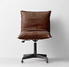 RH Brown Leather Desk Chair