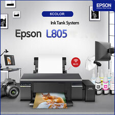 EPSON L805 6-Color Wireless Inkjet Photo Printer Ink Tank Continue Wi-Fi Support