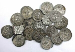 *SC* COLLECTION OF 20 SASANIAN SILVER DRACHMS, 6TH. CENTURY AD F-VF