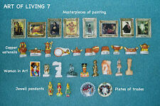 MINIATURE FRENCH PORCELAIN FIGURINES / DOLLHOUSE -32 FEVES-Theme ART OF LIVING 7