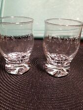 Set of TWO .... HPNOTIQ Embossed Footed Liquor Glassware