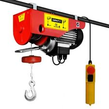 Electric Hoist Winch 300/600KG 1200W 15m Rope 240V Power Lift Equipment @HOT