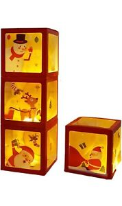 eBoutik - Christmas Balloon Box Party Decorations with Festive Stickers - Great