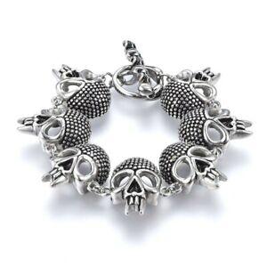 Biker Punk Skull Stainless Steel Bracelet
