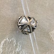 Authentic Trollbead Silver Crystal Triangles Pendant Trollbeads 12301 New