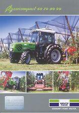 Deutz-Fahr Agrocompact 60 70 80 90 Prospekt 2002 9/02 Landmaschine brochure Agro