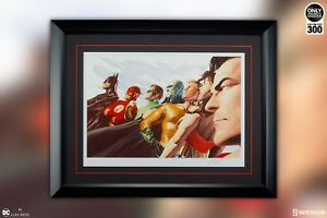 SIDESHOW LIBERTY & JUSTICE JLA PRINT WONDER WOMAN Superman Batman ALEX ROSS