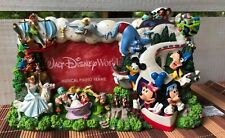 WDW Disney Parks Souvenir Musical Picture Photo Frame 4x6 Characters All Around
