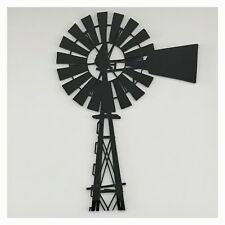 Windmill Black Plastic Acrylic Decor Country Farmhouse Vintage Decor Wall DIY