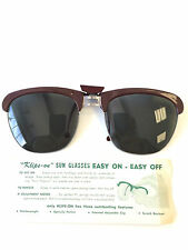 Sunglasses Clip VTG On Klips-On Circa 1960 Sunglass Rare Vision Care 48x43mm