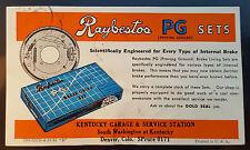RAYBESTOS BRAKES - Kentucky Garage - Denver Car Advertisement Color Ink Blotter