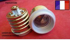 Lot de 2 adaptateurs douille E40 mâle  - E27 femelle ampoule culot neuf