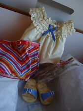 NIB American Girl Doll Julie Summer Skirt Set - Blouse Top Sandals Headband