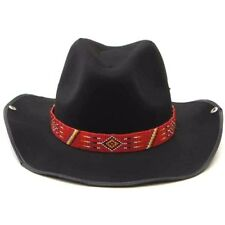 NATIVE STYLE NEW HANDMADE BEADED RED COWBOY HATBAND H19/2