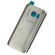 For Samsung Galaxy S7 Edge Back Glass Rear Battery Cover - Silver Titanium