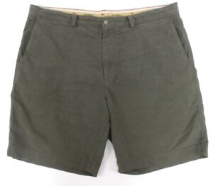 green TOMMY BAHAMA Offshore chino shorts flat front cotton tencel 42 x 9.5