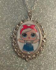 Silver Charm Necklace Pendant LOL L.O.L Doll Posh