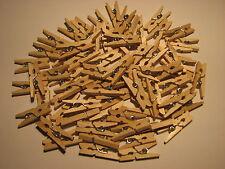 *** 1/10/20/40/60/80/160/400 - Mini Pinces à Linge en bois - 25 mm *** Naturel